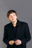 Uomo caucasico intelligente Fotografie Stock