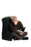 Uomo che attende aereo Fotografia Stock Libera da Diritti