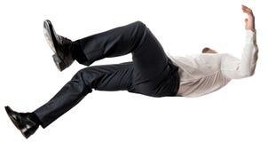 Uomo che cade Fotografie Stock