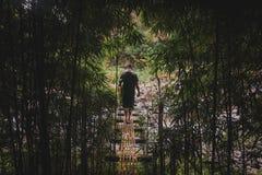 """Uomo che cammina un ponte in Hawai """"i fotografia stock libera da diritti"""