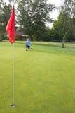 Uomo che concentra Golfing - verticale Fotografie Stock Libere da Diritti