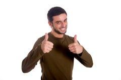 Uomo che dà i pollici su Immagine Stock Libera da Diritti