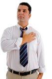 Uomo che dà rispetto tramite il saluto Fotografia Stock