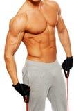 Uomo che fa esercizio di forma fisica Immagini Stock