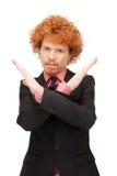 Uomo che fa gesto di arresto Immagini Stock Libere da Diritti