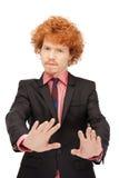 Uomo che fa gesto di arresto Fotografia Stock Libera da Diritti