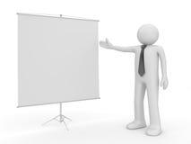 Uomo che fa il copyspace di presentazione Illustrazione di Stock
