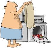 Uomo che fa lavanderia Immagini Stock Libere da Diritti
