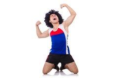 Uomo che fa le esercitazioni Fotografie Stock