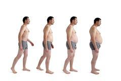 Uomo che fa obesità incrementale Immagine Stock Libera da Diritti