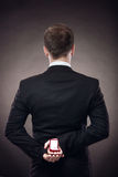 Uomo che fa proposa Immagine Stock