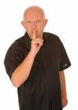 Uomo che gesturing per il quiet immagini stock libere da diritti