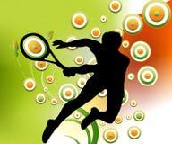 Uomo che gioca tennis Fotografie Stock
