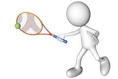 Uomo che gioca tennis Fotografia Stock