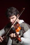 Uomo che gioca violino Fotografia Stock