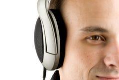 Uomo che gode della musica Immagini Stock Libere da Diritti
