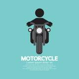 Uomo che guida un simbolo dei motocicli Fotografie Stock Libere da Diritti