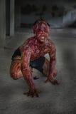 Uomo che ha bruciato l'orrore Fotografia Stock
