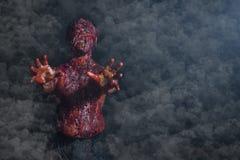 Uomo che ha bruciato l'orrore Fotografie Stock