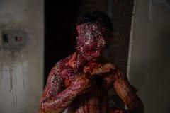 Uomo che ha bruciato l'orrore Immagine Stock Libera da Diritti