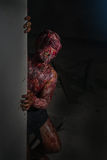 Uomo che ha bruciato l'orrore Fotografie Stock Libere da Diritti