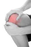 Uomo che ha ferita al ginocchio Fotografia Stock