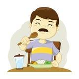 Uomo che ha un pasto royalty illustrazione gratis