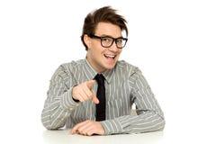 Uomo che indica voi Fotografia Stock