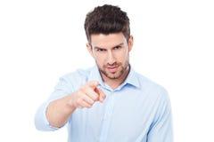 Uomo che indica voi Fotografia Stock Libera da Diritti