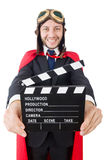 Uomo che indossa abbigliamento rosso Fotografia Stock