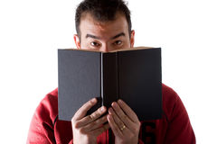 Uomo che legge un libro Fotografia Stock Libera da Diritti