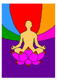 Uomo che meditating Immagini Stock Libere da Diritti