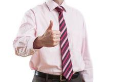 Uomo che mostra gesto di accettazione Fotografie Stock Libere da Diritti