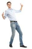 Uomo che mostra i pollici su Immagine Stock Libera da Diritti