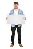 Uomo che mostra segno Fotografie Stock