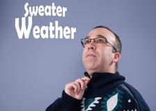 Uomo che porta un maglione Immagine Stock