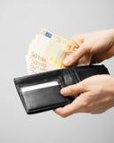 Uomo in vestito con euro denaro contante Immagine Stock Libera da Diritti