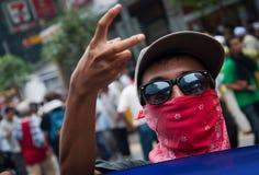 Uomo che protesta per Bersih Immagini Stock