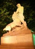 Uomo che sconfigge leone Immagini Stock Libere da Diritti