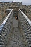 Uomo che vende acqua sulla grande muraglia della Cina Fotografia Stock Libera da Diritti