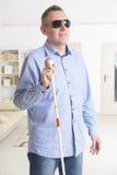 Uomo cieco Fotografia Stock