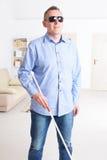 Uomo cieco fotografia stock libera da diritti