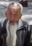 Uomo cinese anziano Fotografia Stock Libera da Diritti