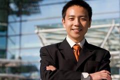 Uomo cinese asiatico di affari Immagine Stock Libera da Diritti