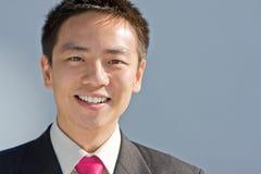 Uomo cinese asiatico di affari Fotografia Stock Libera da Diritti