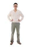 Uomo cinese asiatico sudorientale Fotografia Stock Libera da Diritti