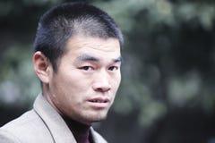 Uomo cinese che gioca in Cina fotografia stock