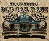 Uomo classico d'annata della vecchia automobile americana retro royalty illustrazione gratis