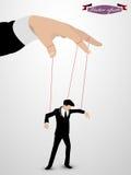 Uomo come marionetta controllata Immagine Stock