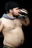 Uomo con birra Immagine Stock Libera da Diritti